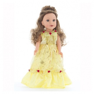 Exclusieve poppenjurk Belle (Little Adventures)