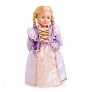 Exclusieve poppenjurk Rapunzel (Little Adventures)
