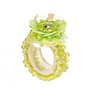 Ring pailletten Jessy groen (Souza for Kids)