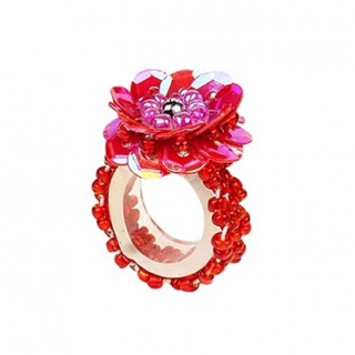 Ring pailletten Jessy rood (Souza for Kids)