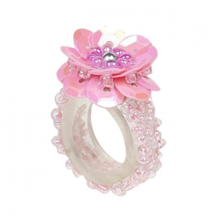 Ring pailletten Jessy roze (Souza for Kids)
