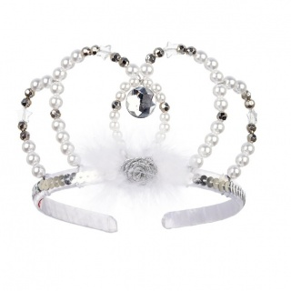 Kroon Tiara Liberty zilver/wit (Rose & Romeo)